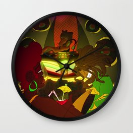 Being  Caribbean: Dance Hall Wall Clock