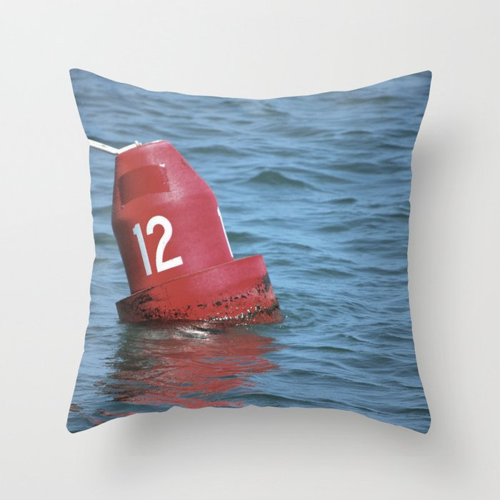 Buoy 12 south Throw Pillow