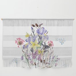 Irises and Wild Flowers Wall Hanging