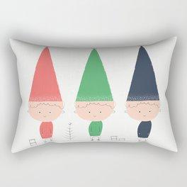 Sketchy Holiday Elves Rectangular Pillow