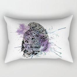Patterned Quail Rectangular Pillow