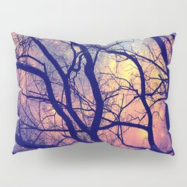 Black Trees Deep Pastels Space Pillow Sham