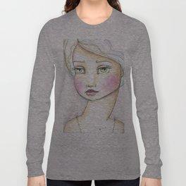 Dreamy Eyed Girl in Sherbert Long Sleeve T-shirt