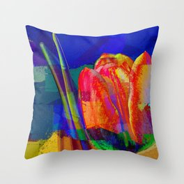 The InFocus Tulip Collection II Throw Pillow