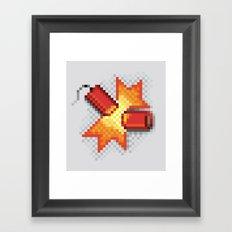 Pixel Boom Framed Art Print