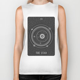 Minimal Tarot  Deck The Star Biker Tank