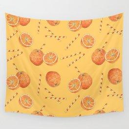 orange juice _ light Wall Tapestry