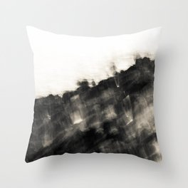 Ragged Line of Sea and Coast Throw Pillow