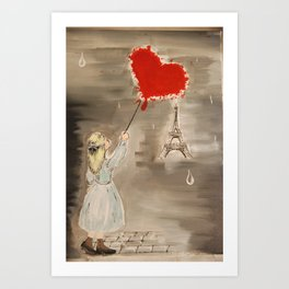Girl with a Heart Art Print