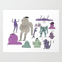 more junk from the trunk Art Print