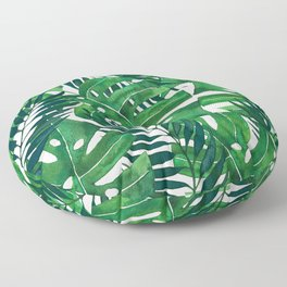 Jungle leaves Floor Pillow