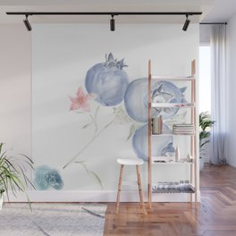 Red White & Blues ・Rustic Blueberries Wall Mural