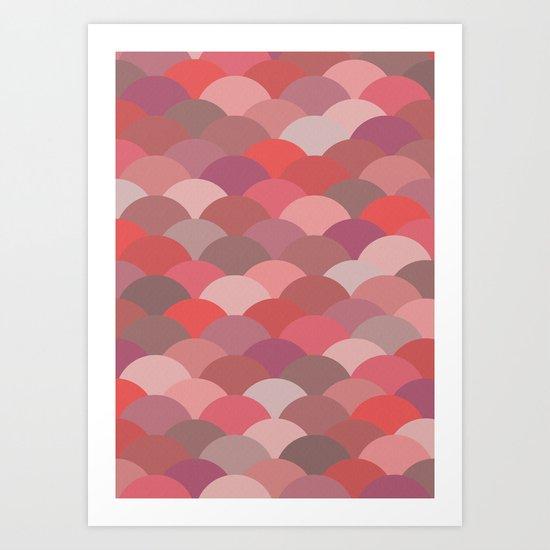 Circles Abstract 9 Art Print