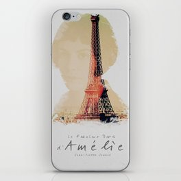 Amelie, minimalist movie poster, french film playbill, the fabulous life of Amélie Poulain, iPhone Skin