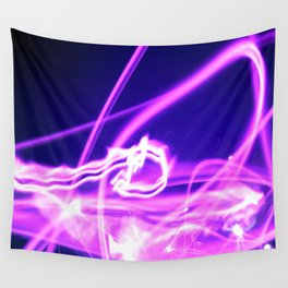 Hot Pink Sparkler Flames Wall Tapestry