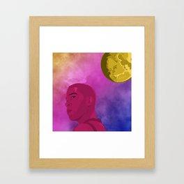 Man On the Moon I Framed Art Print
