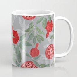 Pomegranate garden on grey Coffee Mug