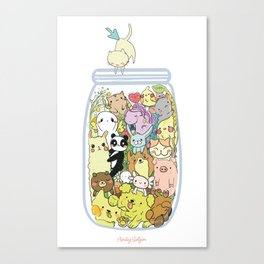 Animal pills Canvas Print