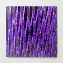 Neon Purple Glitz and Sparkle Glamour Pattern Metal Print