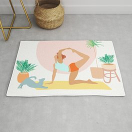'Rise and Shine' Yoga Girl Power Rug