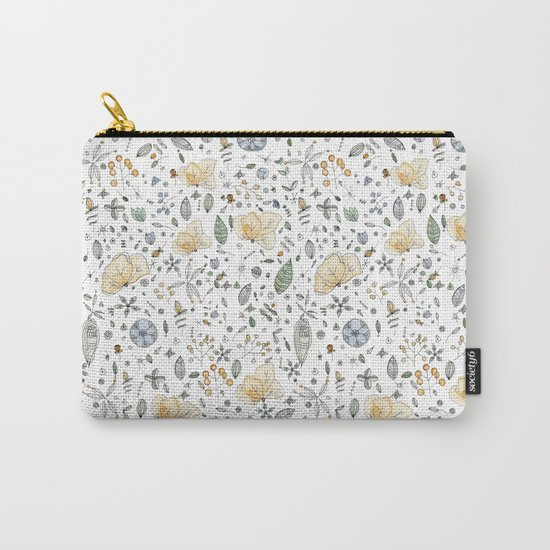 Flower Garden Watercolor Carry-All Pouch