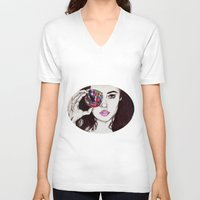 marina V-neck T-shirts featuring Marina  by annelise johnson