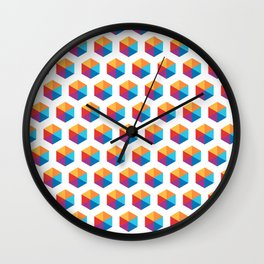 Rombos Pattern Wall Clock