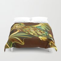 haunted mansion Duvet Covers featuring Haunted Mansion Bat Stanchion by ArtisticAtrocities
