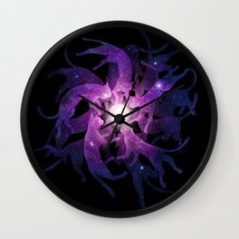 cats and catch Wall Clock