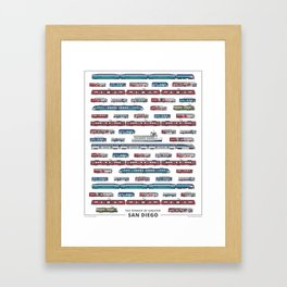 The Transit of Greater San Diego Framed Art Print