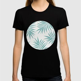Delicate Green Tropical Leaves Pattern T-shirt