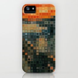 THE SCREAM Low Res Homage  iPhone Case