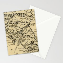 Vintage Map of Nicaragua and Costa Rica (1764) Stationery Cards