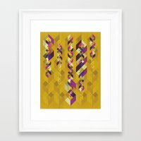 dna Framed Art Prints featuring DNA by Lucky Skye