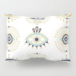 Evil Eye Collection on White Pillow Sham