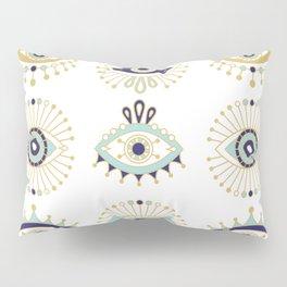 Evil Eye Collection on White Pillow Sham