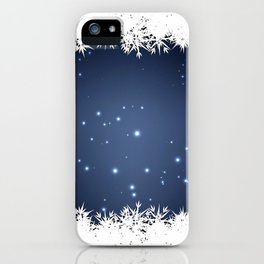 Adorable snowy night iPhone Case