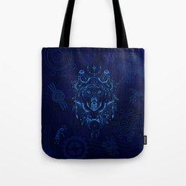 Sacred Blue Wolf Tote Bag