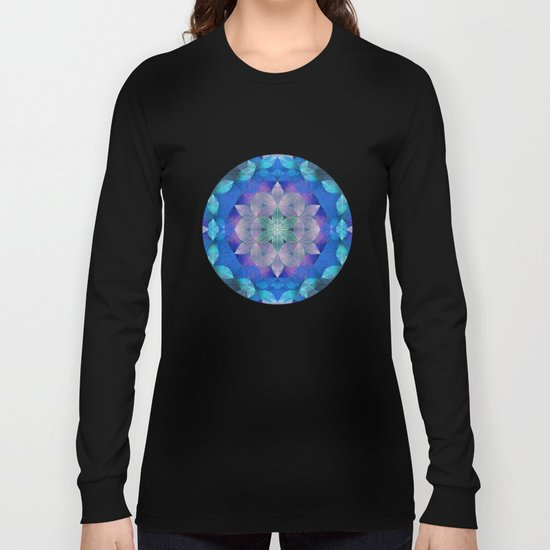 The Flower of Life - Leaf Pattern 2 Long Sleeve T-shirt