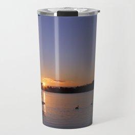 Geese at Sunrise Travel Mug
