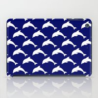 dolphins iPad Cases featuring Dolphins by The Wellington Boot