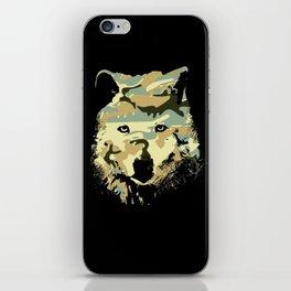 Wolf art print iPhone Skin