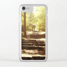 Up the Down Stairs Clear iPhone Case