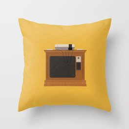 Retro TV and Console Throw Pillow