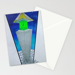 alien abduction  ZB Stationery Cards