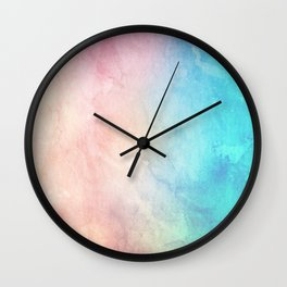 Fire and Ice - Watercolor Painting Wall Clock