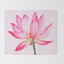 pink lotus flower Throw Blanket