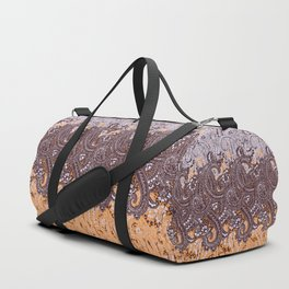 paisley swirls in earth tones Duffle Bag