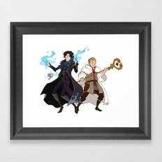 Sherlock and John Framed Art Print