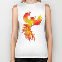 phoenix Biker Tanks featuring Phoenix by Paula Belle Flores